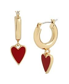 Heart Huggie Earrings