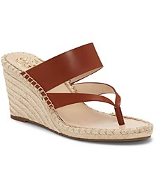 Women's Lavanda Thong Wedge Sandals