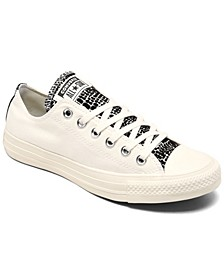 Women's Chuck Taylor All Star Crocodile Low Top Casual Sneakers from Finish Line