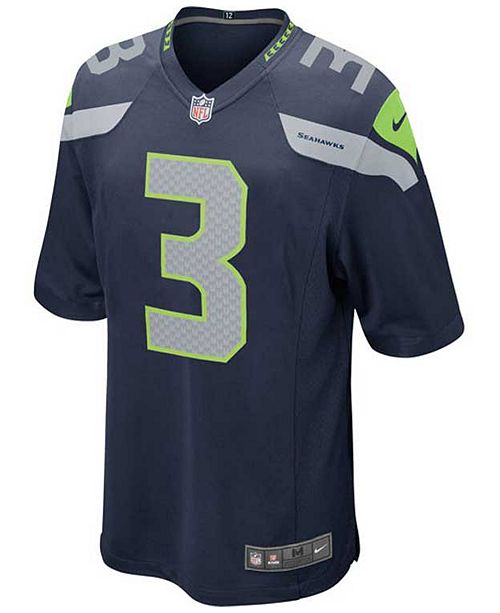 brand new c0ef5 9ab15 Kids' Russell Wilson Seattle Seahawks Game Jersey, Big Boys (8-20)