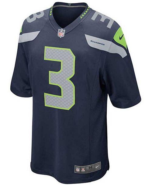 brand new 4dcd6 294a4 Kids' Russell Wilson Seattle Seahawks Game Jersey, Big Boys (8-20)