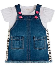 Baby Girls 2-Pc. Bodysuit & Denim Skirtall Set