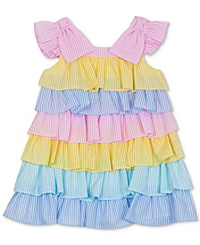 Baby Girls Tiered Colorblocked Dress