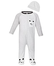Baby Boys 2-Pc. Cotton Puppy Coveralls & Hat Set, Created for Macy's