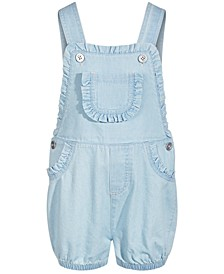 Toddler Girls Ruffle Denim Shortalls, Created for Macy's