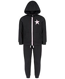 Toddler Girls 2-Pc. Fleece Star Graphic Track Set, Created for Macy's