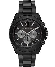 Men's Brecken Chronograph Black Stainless Steel Bracelet Watch 45mm