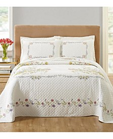 Floral Bouquet Bedspread & Sham Collection, Created for Macy's