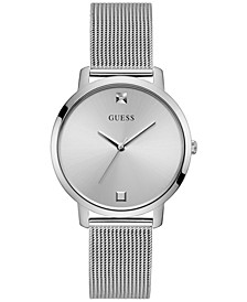 Women's Diamond-Accent Stainless Steel Mesh Bracelet Watch 40mm