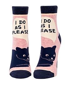 I Do as I Please Women's Ankle Socks