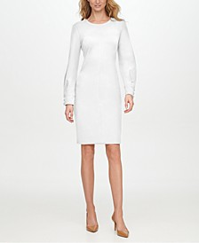 Split-Sleeve Sheath Dress