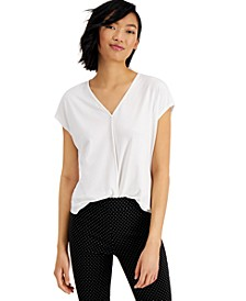 Seamed V-Neck Top, Created For Macy's