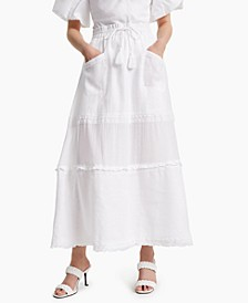 INC Linen Lace-Tassel Maxi Skirt, Created for Macy's