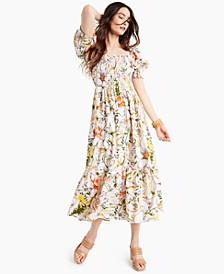INC Smocked Puff-Sleeve Dress, Created for Macy's