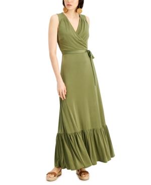 Faux-Wrap Maxi Dress