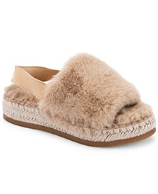 Keya Plush Espadrille Slippers