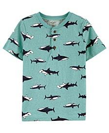 Big Boys Shark Henley Tee