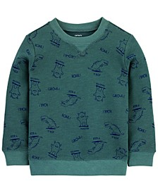 Toddler Boys Dinosaur French Terry Pullover