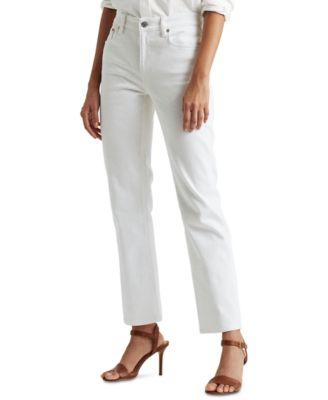 로렌 랄프로렌 Lauren Ralph Lauren High-Rise Ankle Jeans