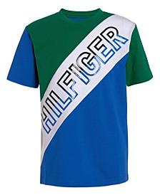 Toddler Boys Squad Piecing Short Sleeve T-shirt