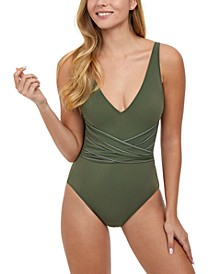 Tailor Made V-Neck Tummy-Control One-Piece Swimsuit