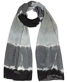 Tie-Dyed Striped Scarf