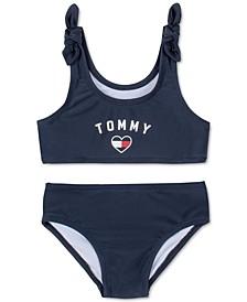 Baby Girls 2-Pc. Logo Heart Swimsuit