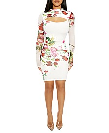 The NW Cut-Out Floral-Print Mini Dress