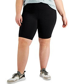 Plus Size Pull-On Bicycle Shorts, Created for Macy's