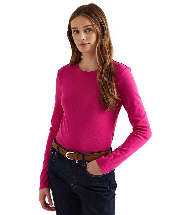 Lauren Ralph Lauren - Long-Sleeve Stretch T-Shirt