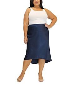 Women's Plus Size Heavy Charm Uneven Hem Skirt