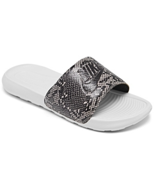 Nike WOMEN'S VICTORI ONE PRINT SLIDE SANDALS FROM FINISH LINE