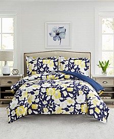 Aster Floral 3-Pc. Reversible Full/Queen Comforter Set, Created for Macy's