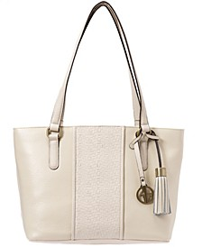 Pebble Leather Weave Tote, Created for Macy's