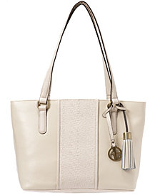 Giani Bernini Pebble Leather Weave Tote, Created for Macy's
