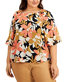 Plus Size Printed Top