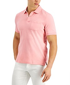 Men's Solid Jersey Polo with Pocket, Created for Macy's