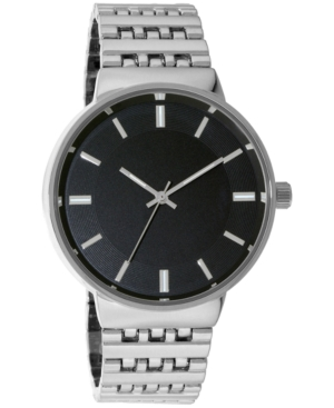 INC INTERNATIONAL CONCEPTS INC MEN'S SILVER-TONE BRACELET WATCH 40MM, CREATED FOR MACY'S