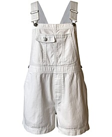 Juniors' Cotton Denim Shortalls
