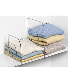Diversified Pair of Large Over-The-Shelf Dividers, Set of 4 Closet Shelf Dividers