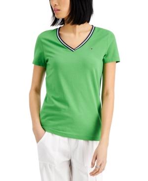 Tommy Hilfiger V-neck T-shirt In New Leaf