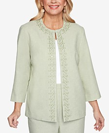Petite Springtime In Paris Scroll-Embroidered Jacket