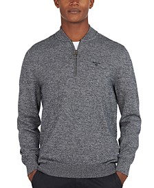 Men's Sporty Quarter-Zip Sweater