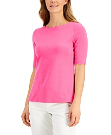 Cotton Scalloped Top, Created for Macy's