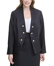 Plus Size Open-Front Asymmetrical Jacket
