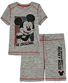 Little Boys Original Mickey Active T-shirt and Shorts Set, 2 Piece