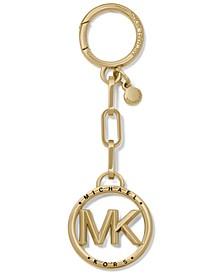 Charm Metal MK Circle Key Charm