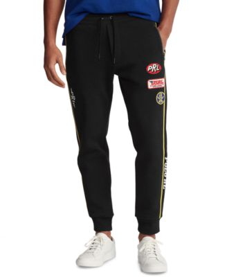 폴로 랄프로렌 Polo Ralph Lauren Mens Double-Knit Racing Pants,Polo Black Multi