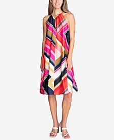 Marquesa Printed Hardware Sleeveless Dress