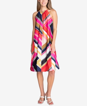 Trina Turk MARQUESA PRINTED HARDWARE SLEEVELESS DRESS